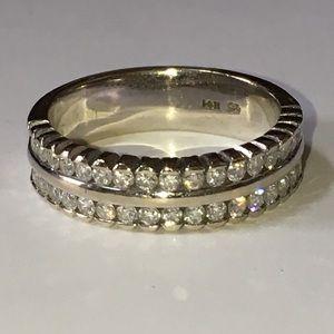 Jewelry - 14K Gold .36CTW Diamond Semi Eternity Band Ring